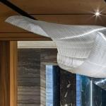 Hanging glass art at Chatsworth by nikolas weinstein studios